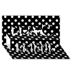 Black And White Polka Dots Best Friends 3D Greeting Card (8x4)