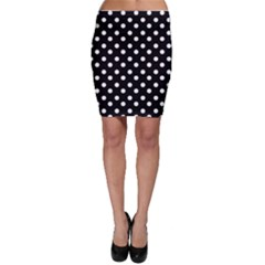 Black And White Polka Dots Bodycon Skirts