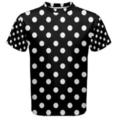 Black And White Polka Dots Men s Cotton Tees