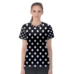 Black And White Polka Dots Women s Sport Mesh Tees