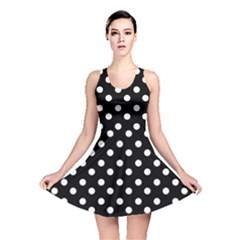 Black And White Polka Dots Reversible Skater Dresses