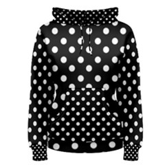 Black And White Polka Dots Women s Pullover Hoodies