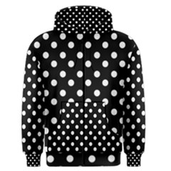 Black And White Polka Dots Men s Zipper Hoodies