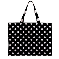 Black And White Polka Dots Zipper Tiny Tote Bags
