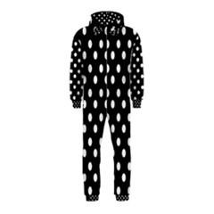Black And White Polka Dots Hooded Jumpsuit (kids)