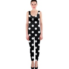 Black And White Polka Dots OnePiece Catsuits
