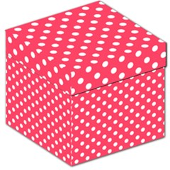Hot Pink Polka Dots Storage Stool 12