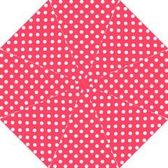 Hot Pink Polka Dots Golf Umbrellas