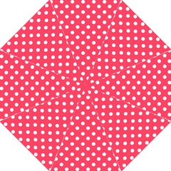 Hot Pink Polka Dots Hook Handle Umbrellas (Medium)