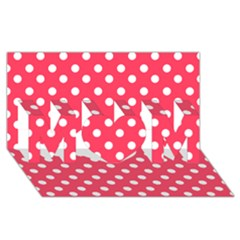 Hot Pink Polka Dots Mom 3d Greeting Card (8x4)