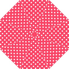 Hot Pink Polka Dots Hook Handle Umbrellas (Small)