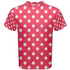 Hot Pink Polka Dots Men s Cotton Tees