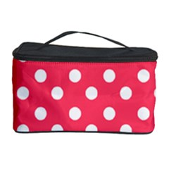 Hot Pink Polka Dots Cosmetic Storage Cases