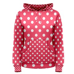 Hot Pink Polka Dots Women s Pullover Hoodies
