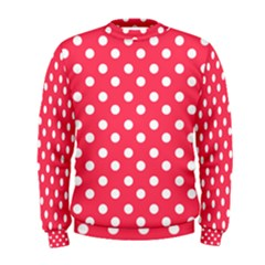 Hot Pink Polka Dots Men s Sweatshirts