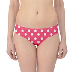 Hot Pink Polka Dots Hipster Bikini Bottoms