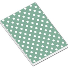 Mint Green Polka Dots Large Memo Pads