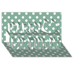 Mint Green Polka Dots Happy Birthday 3D Greeting Card (8x4)
