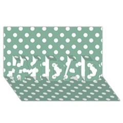 Mint Green Polka Dots #1 DAD 3D Greeting Card (8x4)