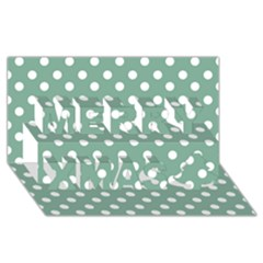 Mint Green Polka Dots Merry Xmas 3D Greeting Card (8x4)