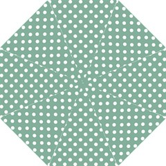 Mint Green Polka Dots Hook Handle Umbrellas (Small)