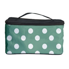 Mint Green Polka Dots Cosmetic Storage Cases