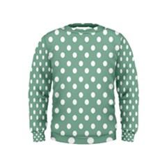Mint Green Polka Dots Boys  Sweatshirts