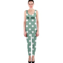 Mint Green Polka Dots OnePiece Catsuits