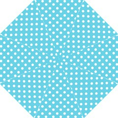 Sky Blue Polka Dots Straight Umbrellas