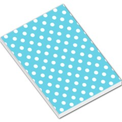 Sky Blue Polka Dots Large Memo Pads