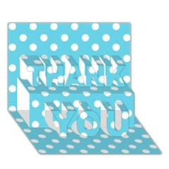 Sky Blue Polka Dots THANK YOU 3D Greeting Card (7x5)