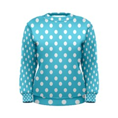 Sky Blue Polka Dots Women s Sweatshirts