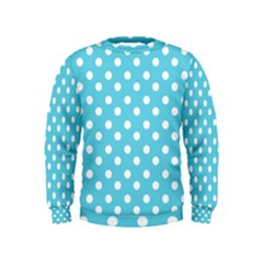 Sky Blue Polka Dots Boys  Sweatshirts
