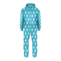 Sky Blue Polka Dots Hooded Jumpsuit (Kids)