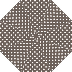 Brown And White Polka Dots Straight Umbrellas