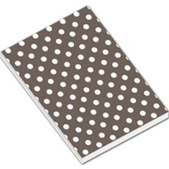Brown And White Polka Dots Large Memo Pads