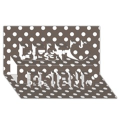 Brown And White Polka Dots Best Friends 3d Greeting Card (8x4)