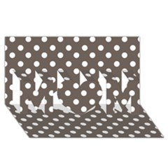 Brown And White Polka Dots MOM 3D Greeting Card (8x4)