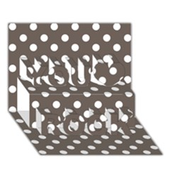 Brown And White Polka Dots You Rock 3D Greeting Card (7x5)