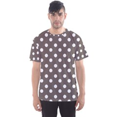 Brown And White Polka Dots Men s Sport Mesh Tees