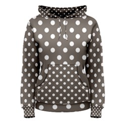 Brown And White Polka Dots Women s Pullover Hoodies