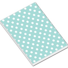 Blue And White Polka Dots Large Memo Pads