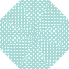 Blue And White Polka Dots Hook Handle Umbrellas (Medium)
