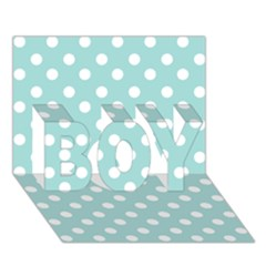 Blue And White Polka Dots Boy 3d Greeting Card (7x5)