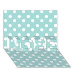 Blue And White Polka Dots Hope 3d Greeting Card (7x5)