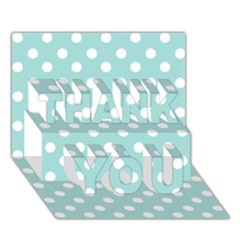 Blue And White Polka Dots THANK YOU 3D Greeting Card (7x5)