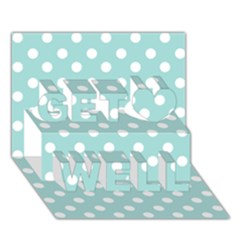 Blue And White Polka Dots Get Well 3D Greeting Card (7x5)