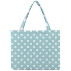 Blue And White Polka Dots Tiny Tote Bags