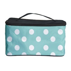 Blue And White Polka Dots Cosmetic Storage Cases