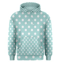 Blue And White Polka Dots Men s Pullover Hoodies
